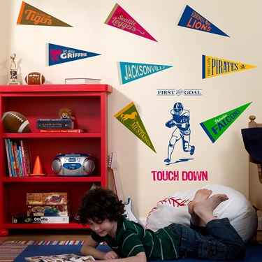Football Game Time Giant Wall Decal