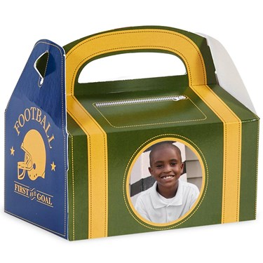 Football Game Time Personalized Empty Favor Boxes (8)