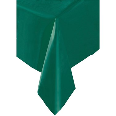 Forest Green Plastic Table Cover (1)
