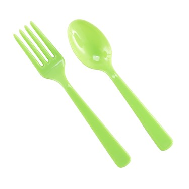 Forks & Spoons - Lime Green