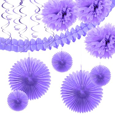 French Violet Festive Decoration Kit