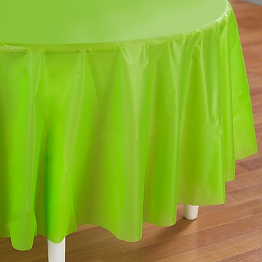 Fresh Lime (Lime Green) Round Tablecover