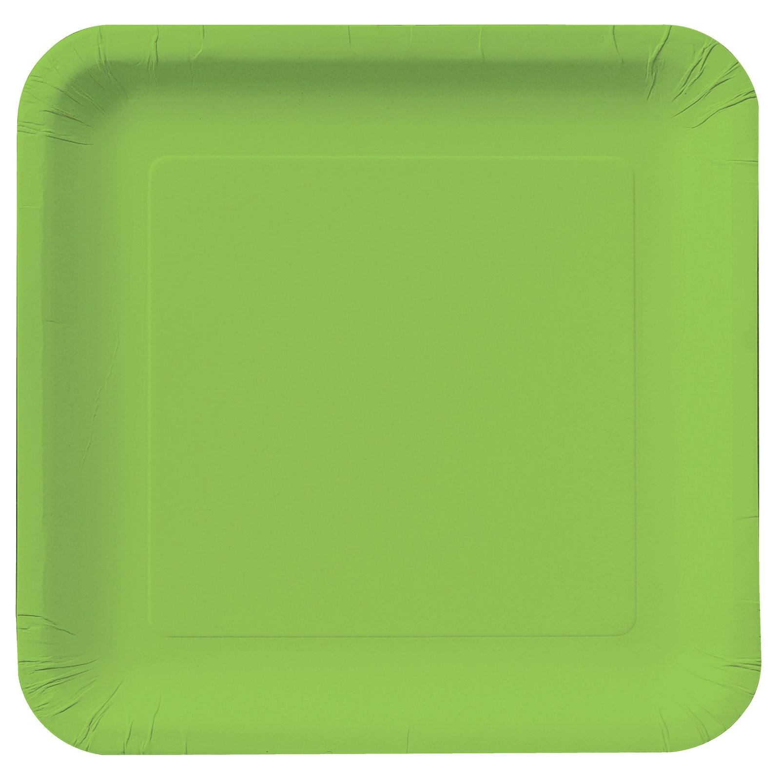Fresh Lime Square Dinner Plates
