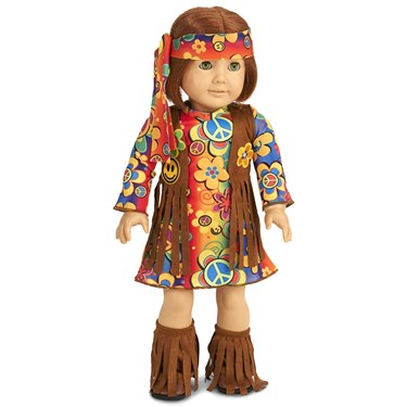 "Fringe 60's Hippie 18"" Doll Costume"