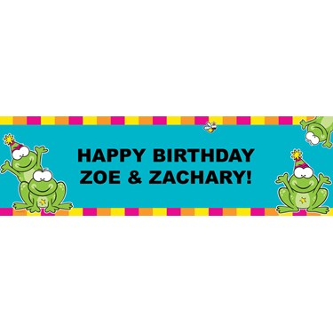 Froggie Fun Personalized Vinyl Banner