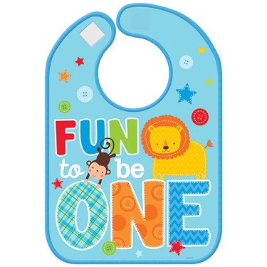 Fun at One Boy Vinyl Bib