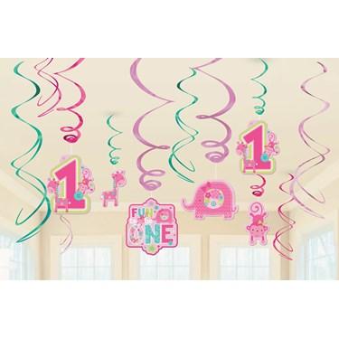 Fun at One Girl Swirl Decorations (12)