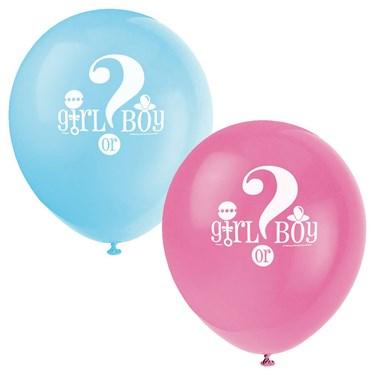 Gender Reveal 12 Latex Balloons (8)