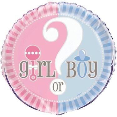 Gender Reveal 18 Foil Balloon (1)