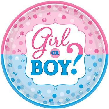 Gender Reveal Dinner Plates (8)