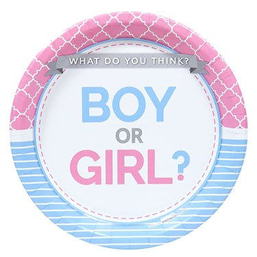 Gender Reveal Party Dinner Plates (8)