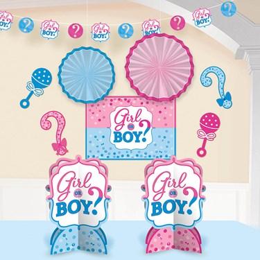 Gender Reveal Room Decorating Kit (10 Pieces)