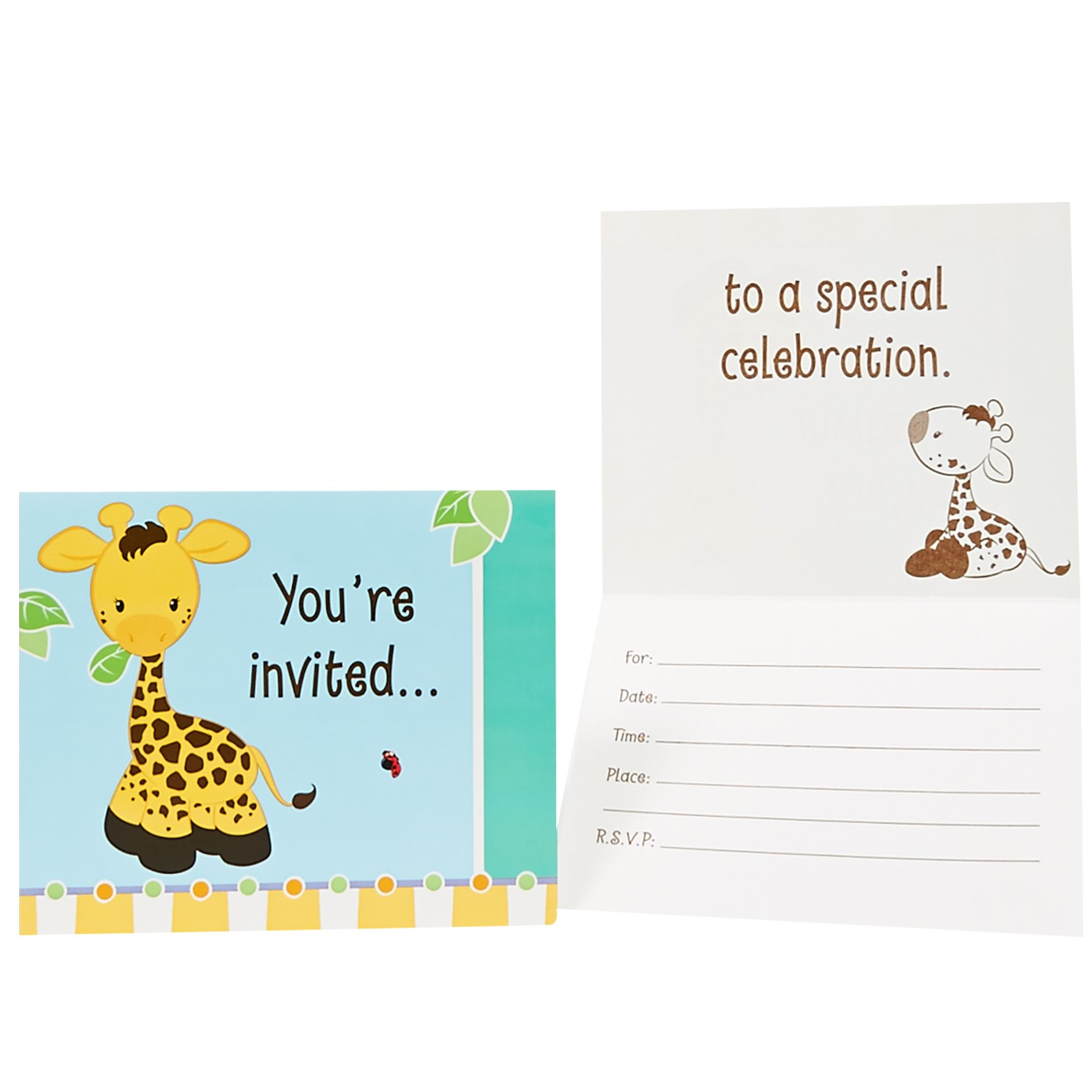 Giraffe Invitations | BirthdayExpress.com