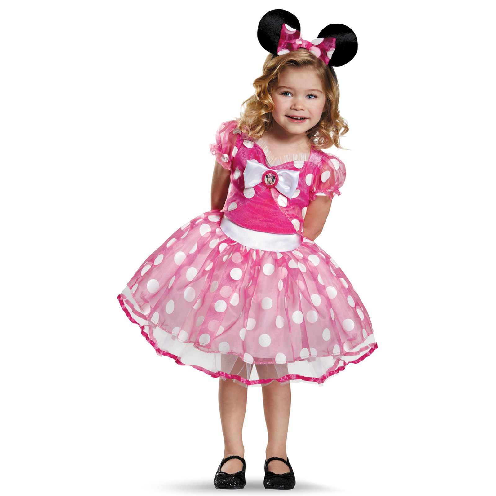 girls deluxe pink toddler minnie mouse tutu costume. Black Bedroom Furniture Sets. Home Design Ideas