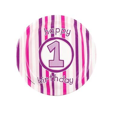 Girl's Lil' Cupcake 1st Birthday Dessert Plates