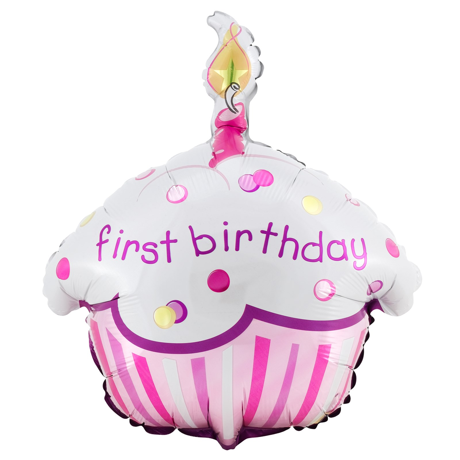 Girl 39 s lil 39 cupcake 1st birthday foil balloon for 1st birthday balloon decoration images