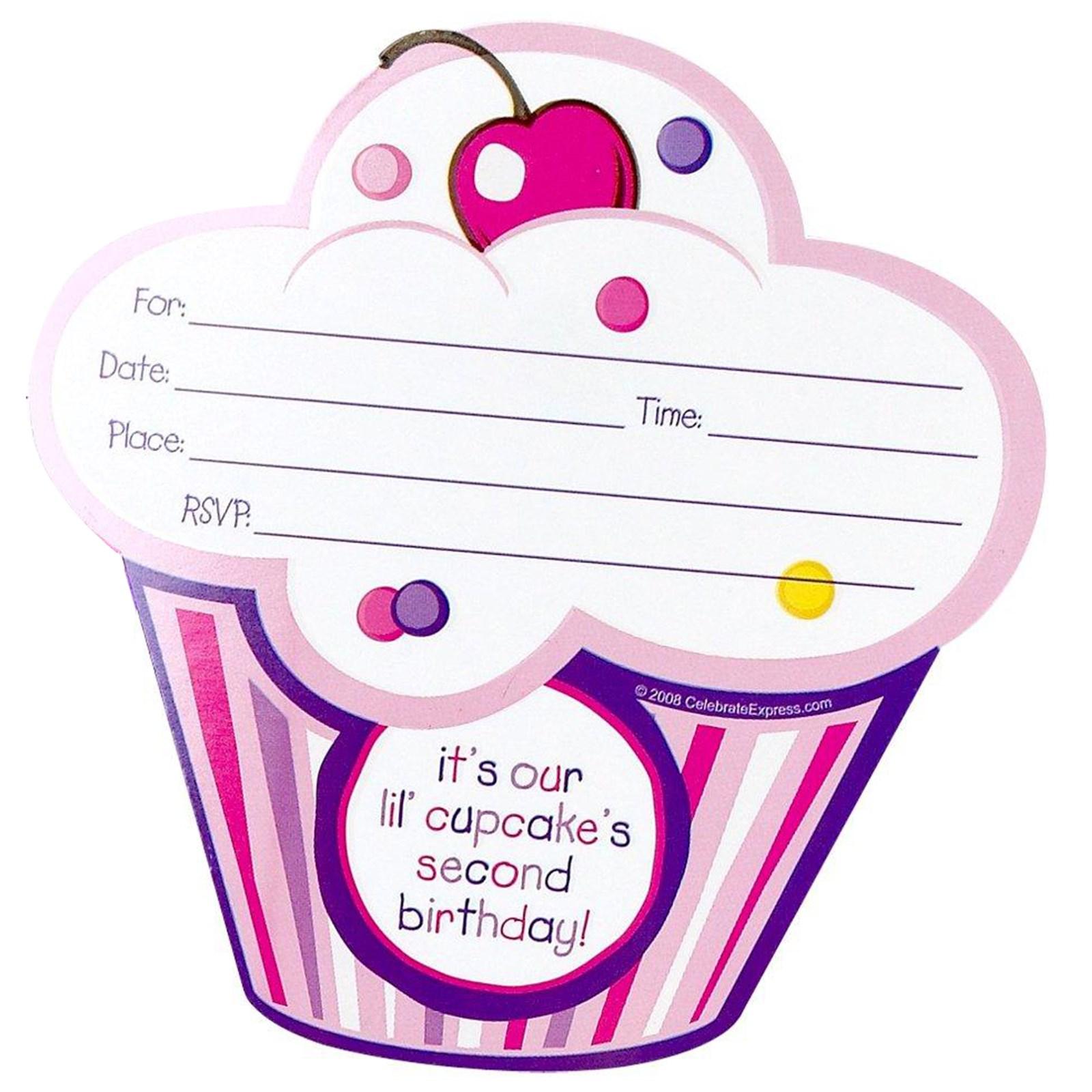 girl's lil' cupcake nd birthday invitations  birthdayexpress, Birthday invitations