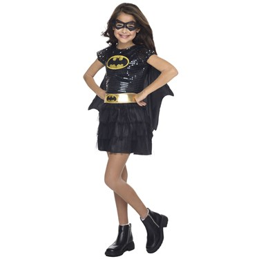 Girls Sequin Batgirl Costume