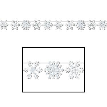 Glittered Snowflake Streamer