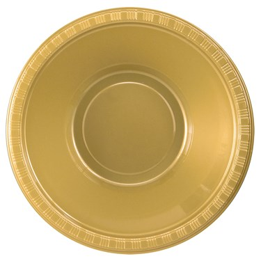 Glittering Gold (Gold) Plastic Bowls