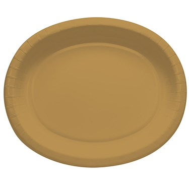 Glittering Gold Oval Banquet Plates