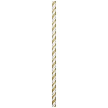 Glittering Gold Paper Straws (24)