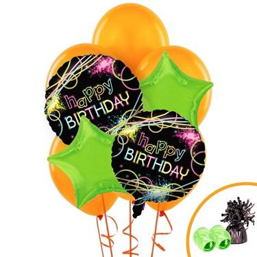 Glow Birthday Balloon Bouquet