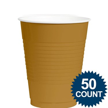 Gold 12oz. Plastic Cup (50)