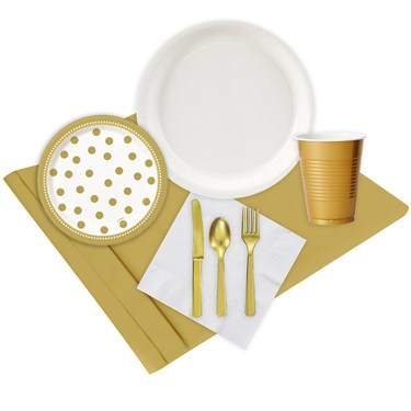 Gold & White Party Pack (24)