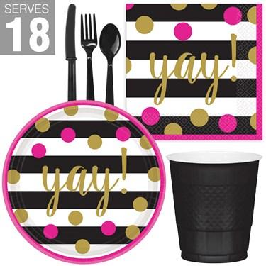 Gold Confetti Grad Snack Pack for 18