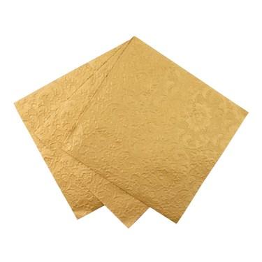 """Gold Emboss Detail Napkin, 13"""", 20Pk"""