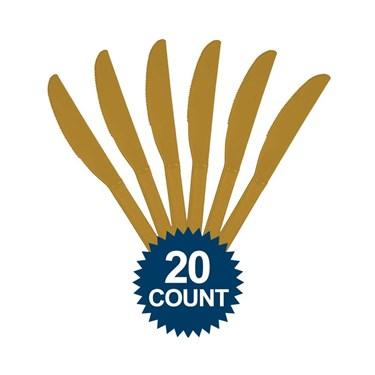Gold Plastic Knives (20)