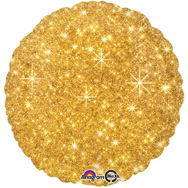 "Gold Sparkle 17"" Balloon"