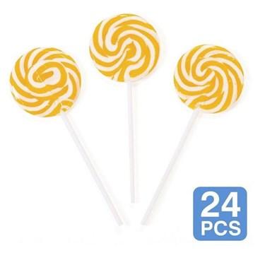 """Gold Swirl 2"""" Lollipops (24)"""