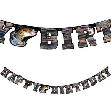 Gone Fishin' Happy Birthday Banner