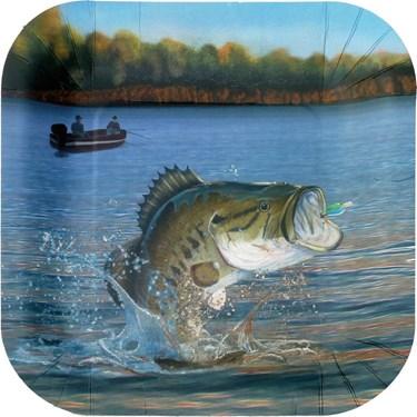 Gone Fishin' Square Dinner Plates (8)