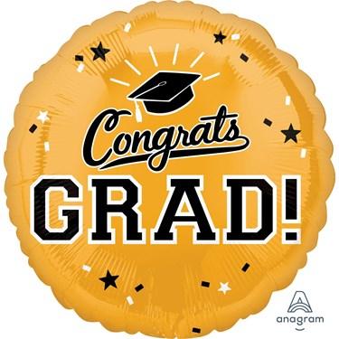 "Graduation 18"" Foil Balloon Gold (1)"