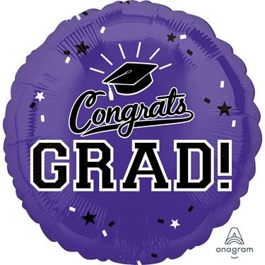"""Graduation 18"""" Foil Balloon Purple (1)"""