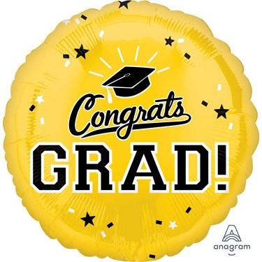 "Graduation 18"" Foil Balloon Yellow (1)"