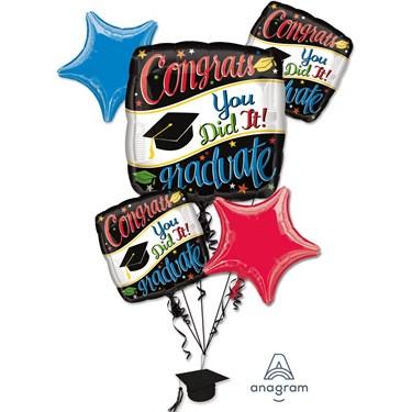 Graduation Balloon Bouquet - Going Places