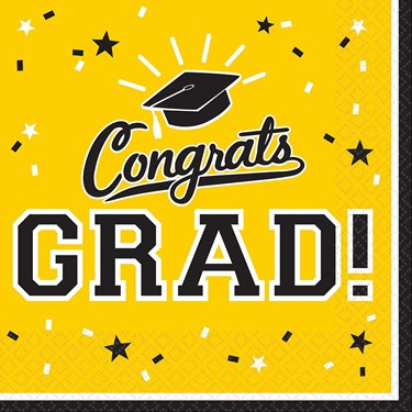 Graduation Lunch Napkins Yellow (36 Count)
