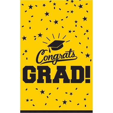Graduation Table Cover Yellow Each