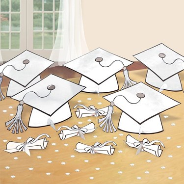 Graduation Table White Decorating Kit (Each)