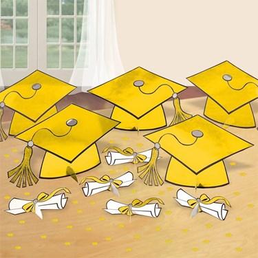 Graduation Table Yellow Decorating Kit