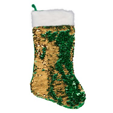 Green & Gold Reversible Sequin Stocking