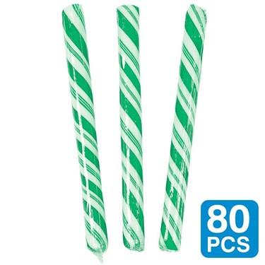 Green Apple 5 Candy Sticks (80 Pack)