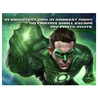 Green Lantern Invitations