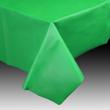 "Green Plastic Tablecover, 54""-108"""