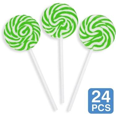 Green Swirl 2 Lollipops (24)