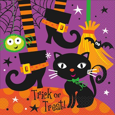 Halloween Spooky Boots Lunch Napkins (16)